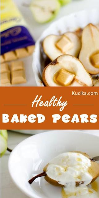 Healthy Baked Pears #dessert #healthyrecipes