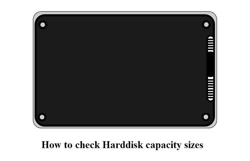 Mengetahui ukuran harddisk