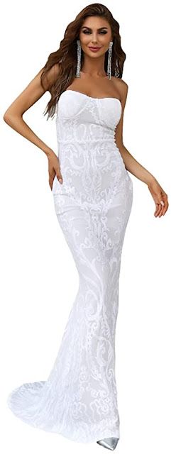 Best White Strapless Maxi Dresses for Weddings