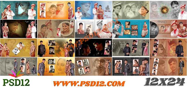 12x24 All Size Photo Album Big Big PSD Collection