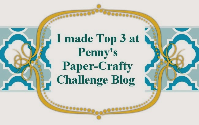 I made TOP 3 at Penny's Paper-Crafty #164 - Monochrome