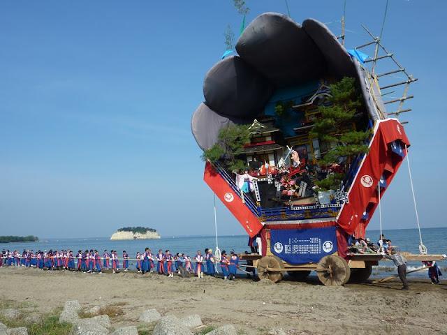 Ushima Deka Hikiyama Junko (big float parade), Suzu City, Ishikawa Pref.