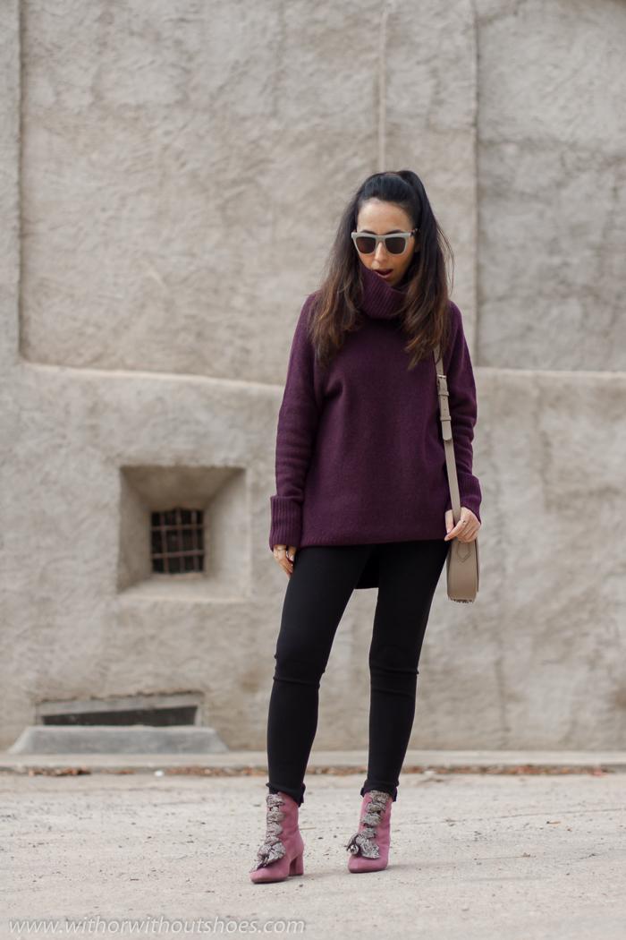 Blogger influencer de moda valenciana con idea para vestir en invierno con frio
