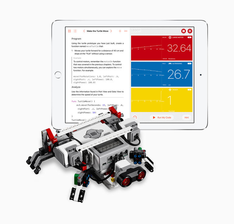 newgersy/ Apple extends Swift Playgrounds to robots, rambles