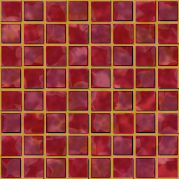 tiled background with red gemstone tiles