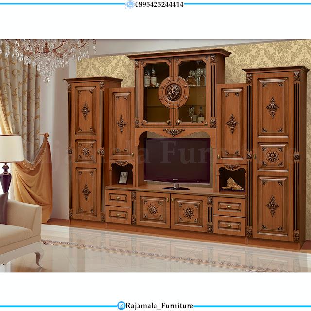 Bufet TV Mewah Kayu Jati Classic Natural Luxury RM-0389