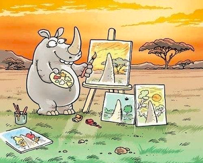 Subjetivismo de un rinoceronte.