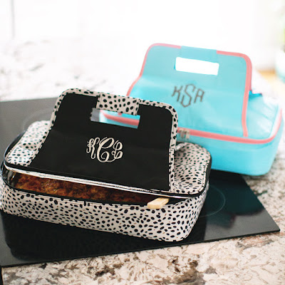 Monogrammed Casserole Carrier from Marleylilly.com