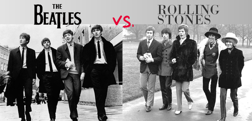 compare and contrast the beatles and the rolling stones