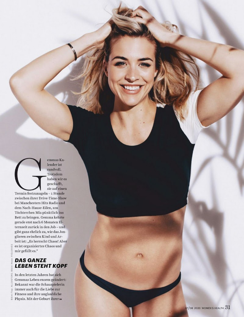 Gemma Atkinson Featured in Women's Health Magazine - Germany July/August 2020