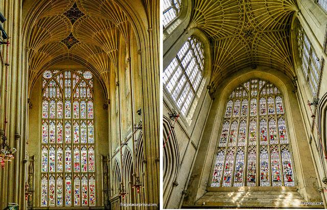 Vitrais da Abadia de Bath, Inglaterra