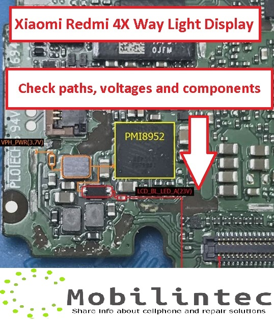 Solution Fix Xiaomi Redmi 4X Display Light Or No Backlight