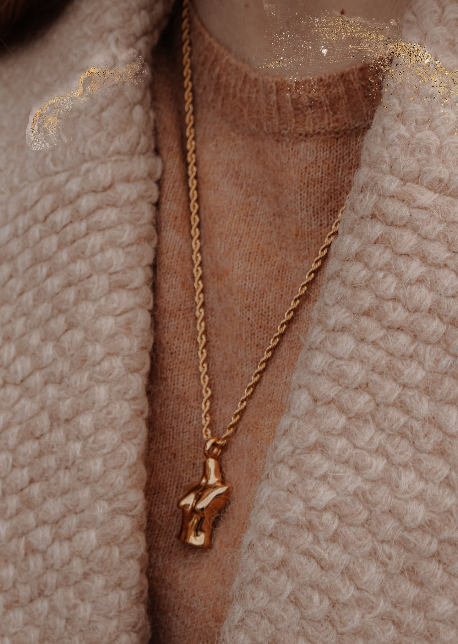 Amber Louisa Gold Body Necklace