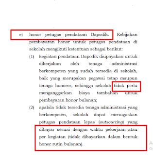 Gaji Operator Sekolah 2017 sesuai Juknis BOS