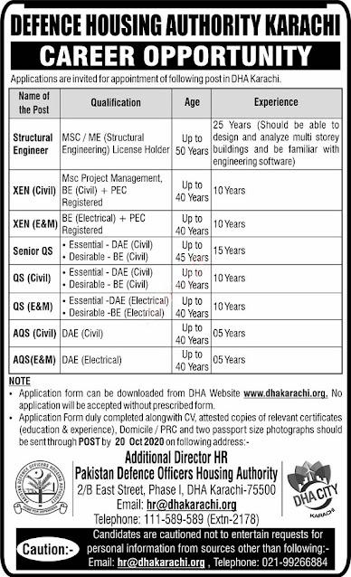defence-housing-authority-dha-karachi-jobs-2020