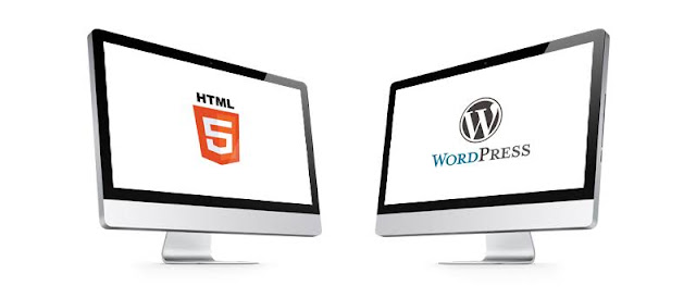 template worpress vs template html