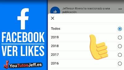 Como Ver los Likes Facebook 😍