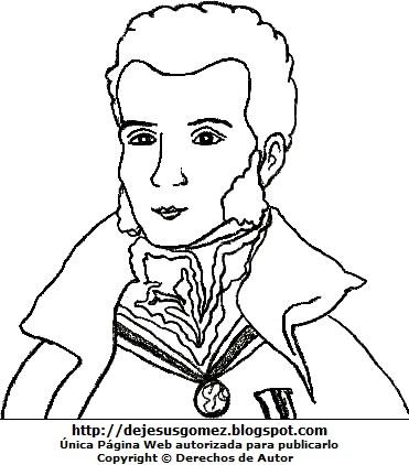 Dibujo de Antonio José de Sucre para colorear pintar imprimir. Dibujo de Antonio José de Sucre de Jesus Gómez