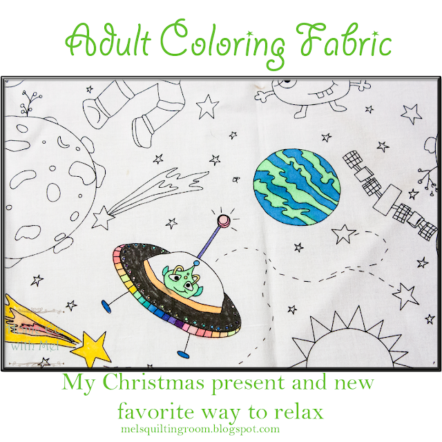 adult coloring fabric