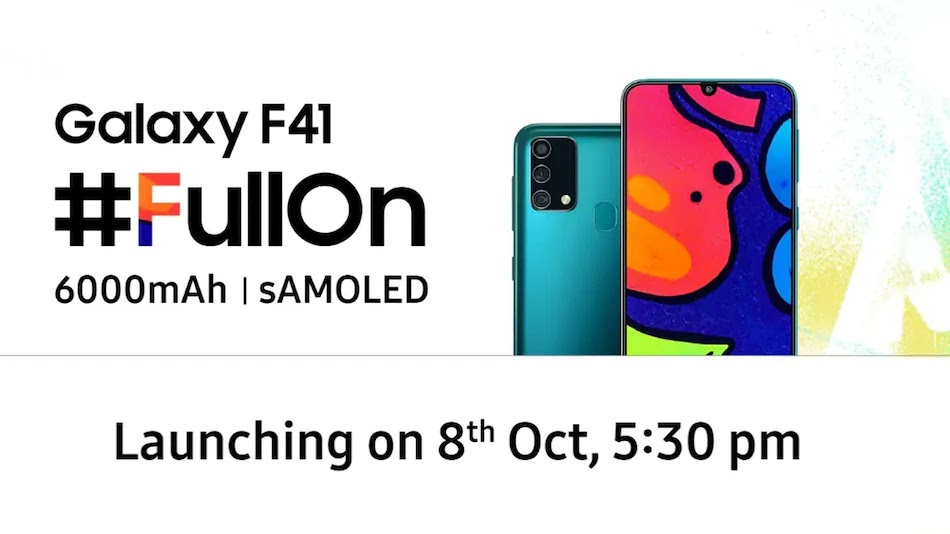 Samsung Galaxy F41 baterai 6000mAh