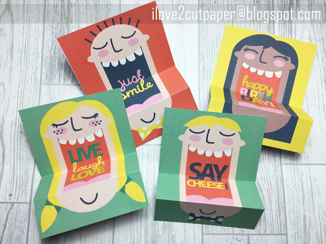 Face cards, printable cards, Just Smile, ilove2cutpaper, LD, Lettering Delights, Pazzles, Pazzles Inspiration, Pazzles Inspiration Vue, Inspiration Vue, Print and Cut, svg, cutting files, templates, Silhouette Cameo cutting machine, Brother Scan and Cut, Cricut