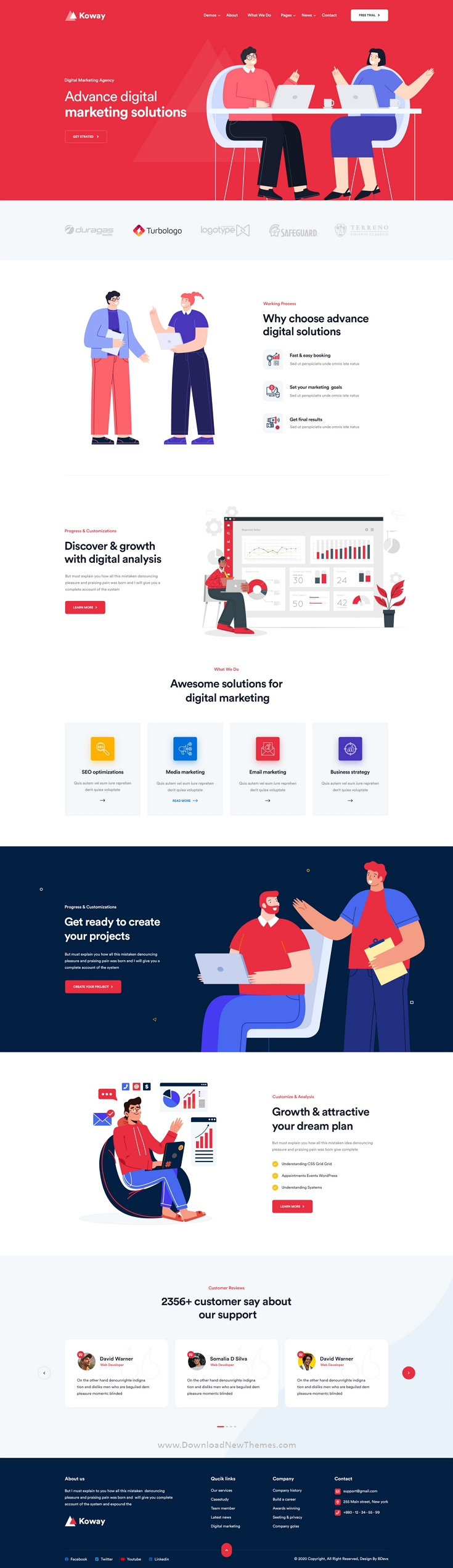 Saas and Software Landing PSD Template
