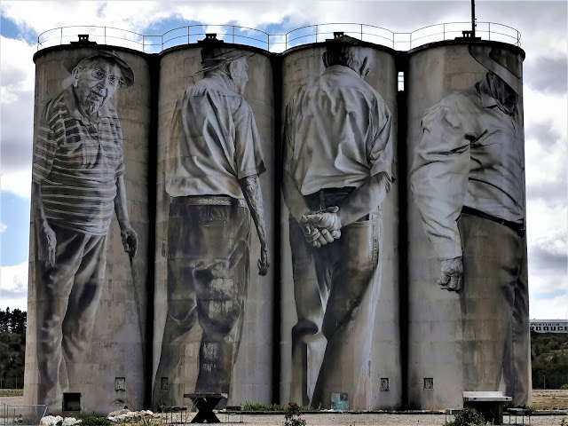 Portland Silo Art by Guido Van Helten