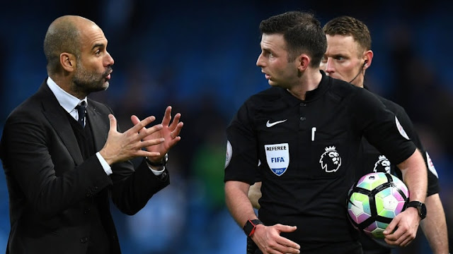 Pep Guardiola surprised by leniency of English referees