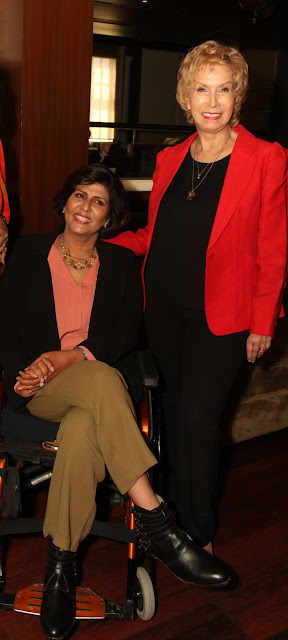 Indian Athlete Deepa Malik with Blossom Kochhar