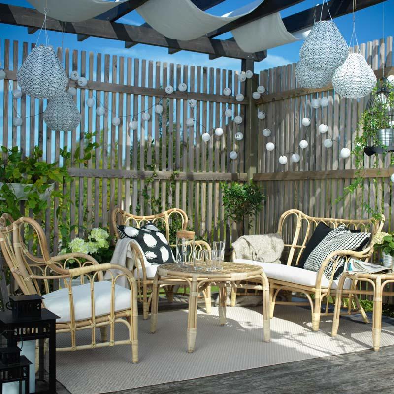 divano poltrona e tavolino da giardino IKEA