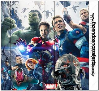 Etiquetas de Vengadores para imprimir gratis.