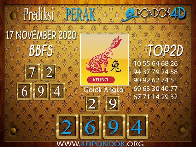 Prediksi Togel PERAK PONDOK4D 17 NOVEMBER 2020