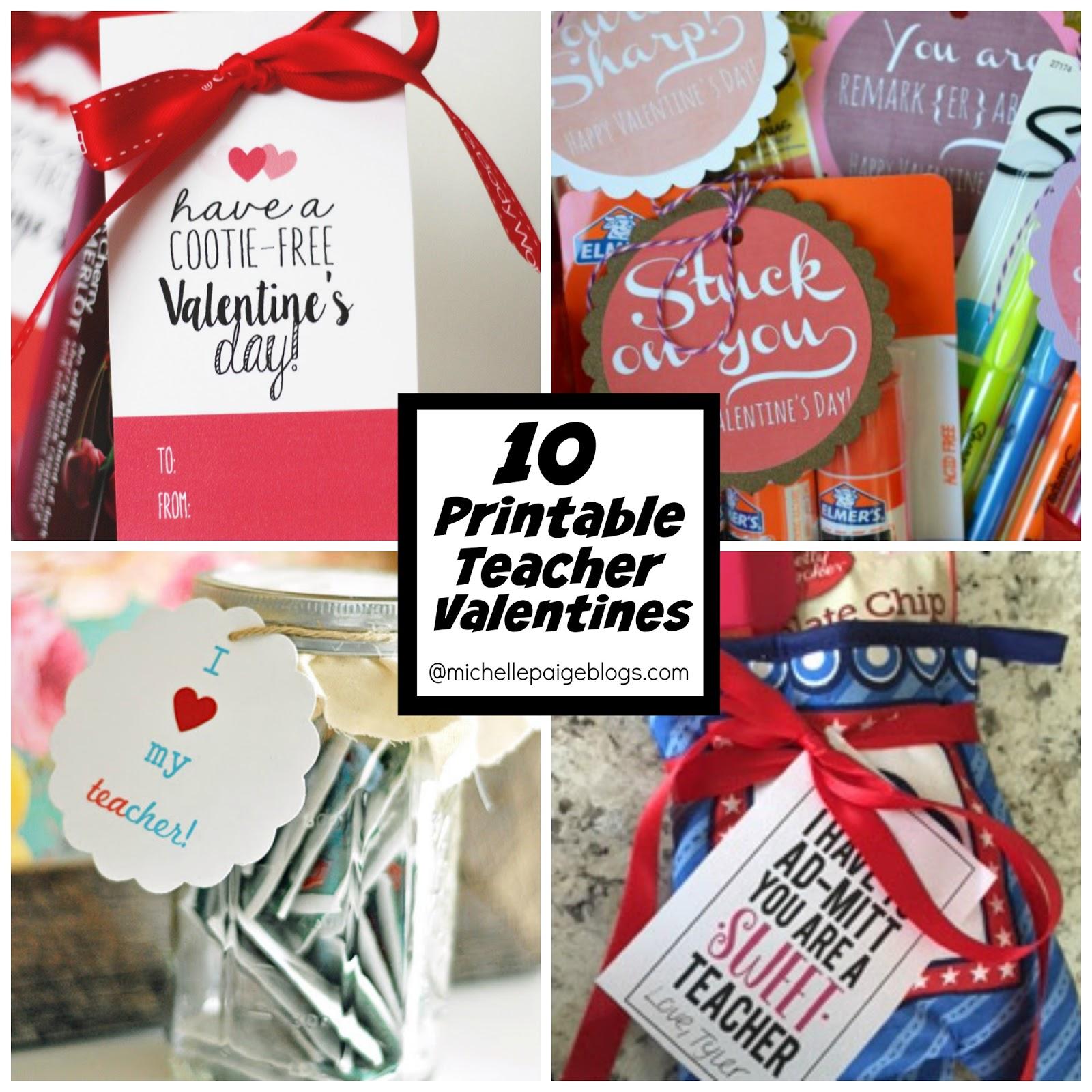 Michelle Paige Blogs 10 Valentine Ideas For The Teacher