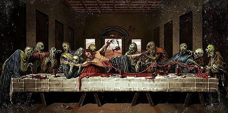 Zombies Last Supper by artist grim86 on deviantART