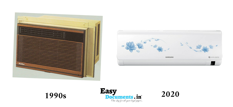 air conditioner in 90s vs 2020