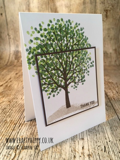 How to make a gorgeous Garden Green Sheltering Tree card by Stampin' Up! Learn how to stretch out the tree to make a taller tree.