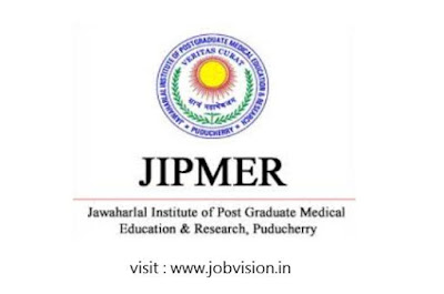 JIPMER Puducherry Recruitment 2018