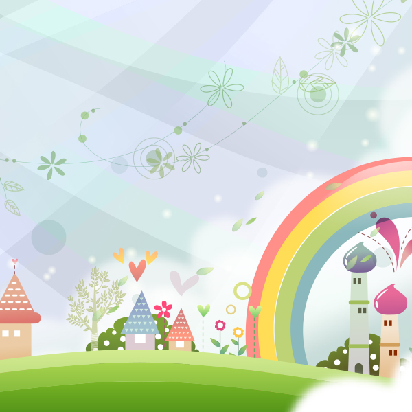 FAIRYTALE LANDSCAPE VECTOR Free Download