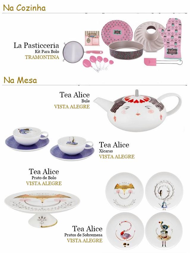 Deixando sua Cozinha Fofa e a Hora do Chá Divertida La Pasticceria Tramontina Tea Alice Vista Alegre