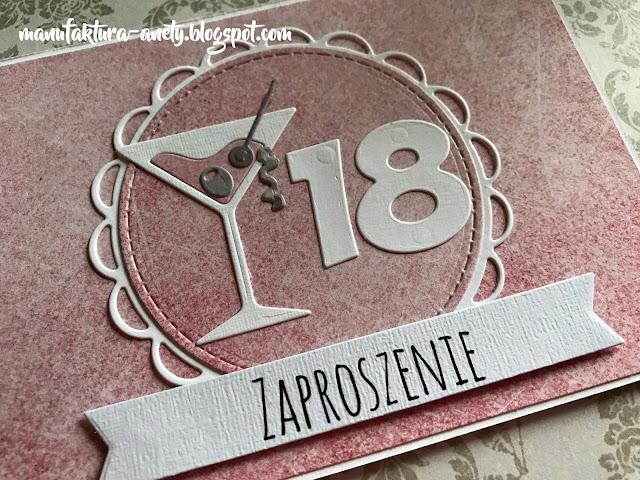 zaproszenie z okazji 18. urodzin