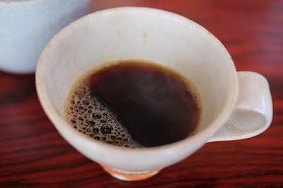 生坂村の古民家カフェ ひとつ石の料理練習 コーヒー