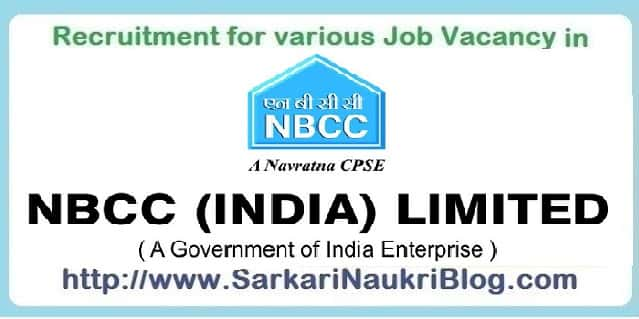 Naukri Vacancy Recruitment in NBCC Limited