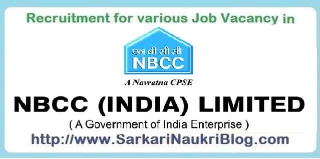 Naukri Vacancy Recruitment in NBCC Limited