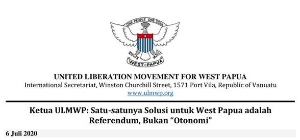 "Ketua ULMWP: Satu-satunya Solusi untuk West Papua adalah Referendum, Bukan ""Otonomi"""