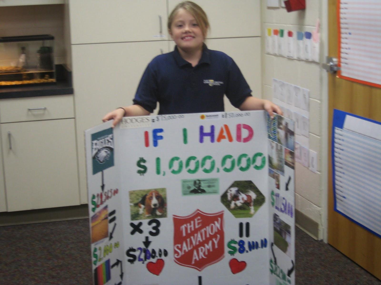 Mrsnders 4th Grade Class Million Dollar Project