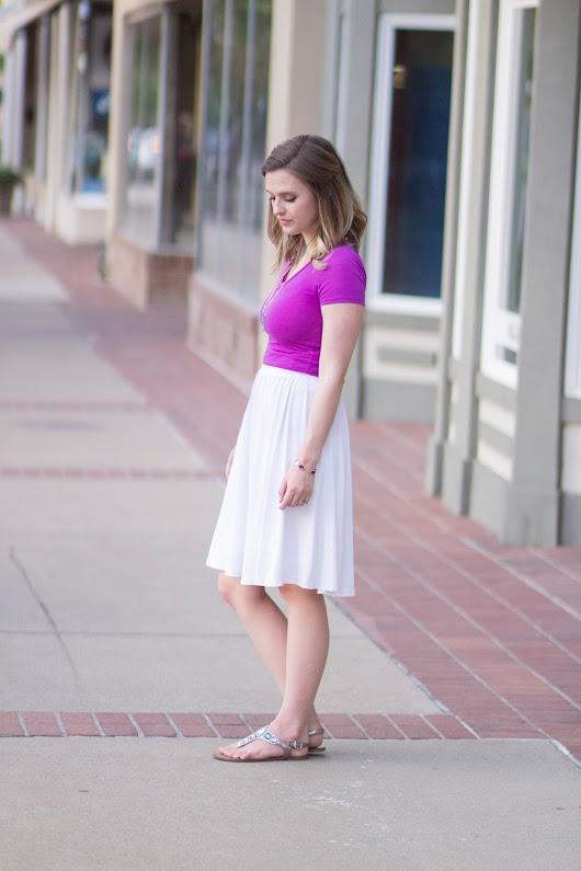 A Versatile White Skirt and an Unauthorized Haircut