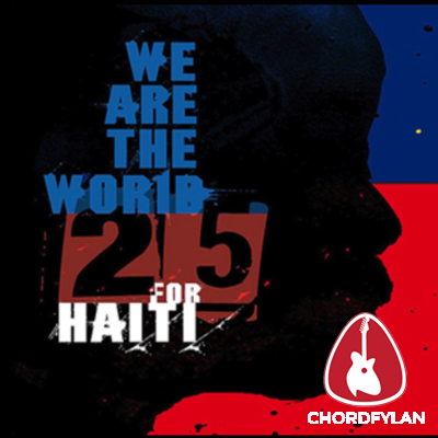 Lirik dan chord We Are The World - 25 For Haiti