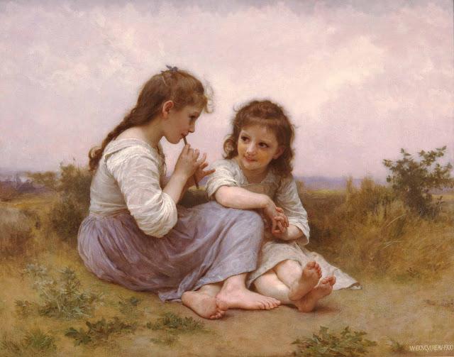 Адольф Вильям Бугро - Детские забавы (1900)