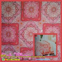 Sprei Custom Katun Lokal Dewasa Pink Tiffany Ornamen Batik Pink