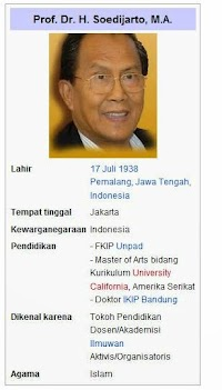 Kurikulum 2013 Menurut Prof. Dr. H. Soedijarto. M. A